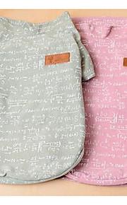 개 티셔츠 강아지 의류 여름 솔리드 귀여운 캐쥬얼/데일리 그레이 핑크