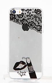 Per Con diamantini Transparente Fai da te Custodia Custodia posteriore Custodia Sexy Morbido TPU per Apple iPhone SE/5s iPhone 5