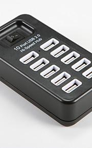USB 2.0 to Multiple 10 USB 2.0 Converter Adapter HUB Switch White Black