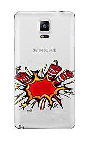 Til Gjennomsiktig Mønster Etui Bakdeksel Etui Tegneserie Myk TPU til Samsung Note 5 Note 4 Note 3 Note 2
