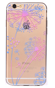 För Genomskinlig Mönster fodral Skal fodral Maskros Mjukt TPU för AppleiPhone 7 Plus iPhone 7 iPhone 6s Plus iPhone 6 Plus iPhone 6s
