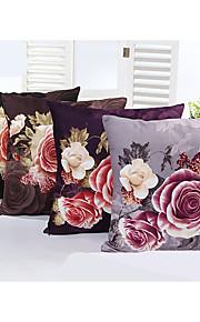 1 Pcs  Beautiful Flower  Cotton/Linen Decorative Pillow Cover