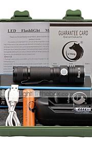 Linternas LED LED Lumens 3 Modo Cree XP-E R2 18650.0 Tamaño Compacto Clip Tamaño PequeñoCamping/Senderismo/Cuevas De Uso Diario Ciclismo