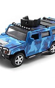 Military Vehicle Pull Back Vehicles Car Toys 1:32 Metal Brown Green Blue Model & Building Toy
