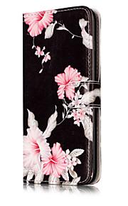 For iPhone 7Plus 7 PU Leather Material Azalea Pattern Painted Phone Case 6s Plus 6Plus 6S 6 SE 5s 5 5C