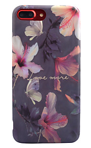 For Apple iPhone 7 7 Plus 6S 6 Plus Case Cover Purple Flower Pattern Thicker TPU Material IMD Process Soft Case Phone Case