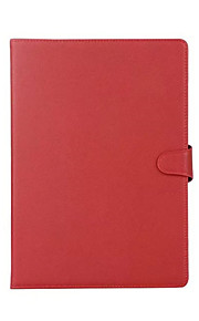For IPad (2017) Card Holder with Stand Auto Sleep/Wake Flip Magnetic Case Full Body Case Solid Color Hard PU Leather Air