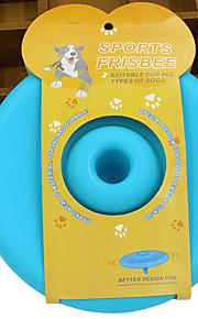 강아지 장난감 반려동물 장난감 플라잉 디스크 접시 플라스틱 레드 그린 블루