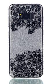 Varten IMD Kuvio Etui Takakuori Etui Pitsidesign Kiiltävä Kukka Kova PC varten Samsung S8 S8 Plus S7 edge S7