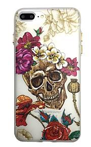 Voor gloed in het donker patroon geval achterkant behuizing het skelet rose zachte tpu voor iphone7 7plus 6 6splus 5 5s