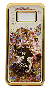 Til samsung galaxy s8 plus s8 tpu materiale plating laser carving quicksand telefon sag s7 edge s7