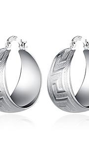 Store øreringe SmykkerEnkelt design Unikt design Hængende Natur Geometrisk Kvadrat Venskab Yndig Personaliseret Hip-hop Hypoallergenisk