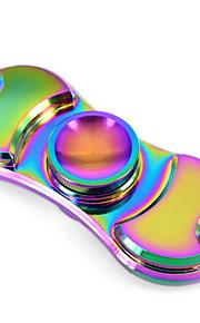 Fidget spinners Hilandero de mano Juguetes Dos hilanderos Metal EDCJuguete del foco Alivio del estrés y la ansiedad Juguetes de oficina