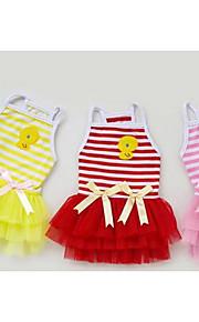 Собаки Платья Одежда для собак Лето Весна/осень Принцесса Милые Мода На каждый день Желтый Красный Розовый