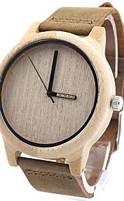 Mulheres Relógio de Moda Relógio de Pulso Único Criativo relógio Relógio Casual Relógio Madeira Japanês Quartzo Quartzo Japonês de madeira