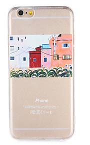 Para Apple iphone 7 7plus caso tampa padrão transparente capa traseira caso soft tpu 6s mais 6 mais 6s 6