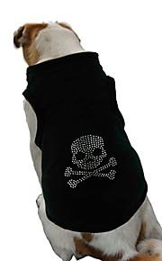 Hunde T-shirt Weste Hundekleidung Niedlich Modisch Lässig/Alltäglich Sport Knochen Schwarz Rosa