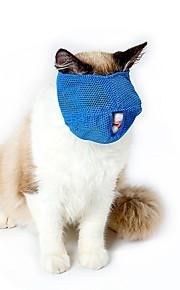 고양이 muzzles 여행 도구 미용 용품 핑크 블루 s l 조절 스트랩 줄 지어 terylene brethable 메쉬 애완 동물 총구