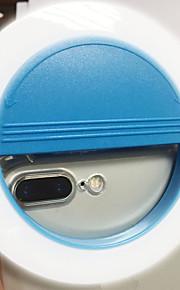Luz do telefone móvel levou auto-timer lâmpada usb carregamento beleza flash noite luz built-in bateria de lítio azul