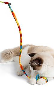 Giocattolo per gatti Giocattoli per animali Interattivo Rompicapi Corda Ripiegabile Tubo Gatto Plastica Tessuto