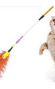 Katteleke Leker til kjæledyr Interaktivt Teasers Holdbar Plastikk Stoff Tilfældig Farve