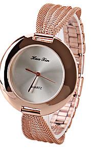JUBAOLI Relógio de Moda Bracele Relógio Quartzo Aço Inoxidável Banda Pendente Casual Marrom Ouro Rose Branco Café Vermelho Ouro Rose
