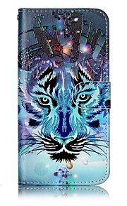 For LG G6 Case Cover Wolf Pattern Shine Relief PU Material Card Stent Wallet Phone Case