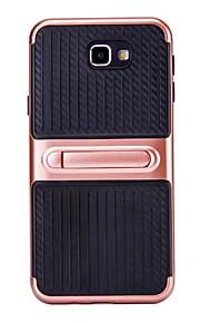 Для Samsung Galaxy i3 (2017) j5 (2017) крышка корпуса с подставкой сплошной цвет жесткий tpu j7 (2017) j3 (2016) j5 (2016) j7 (2016) j5
