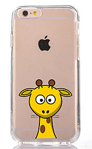 For iPhone 7 Cartoon Giraffe TPU Soft Ultra-thin Back Cover Case Cover For Apple iPhone 7 PLUS 6s 6 Plus SE 5s 5 5C 4S 4