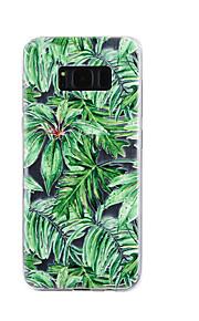 Para samsung galáxia s8 mais s8 caso capa verde deixa padrão gota cola verniz alta qualidade tpu material telefone caso s7 borda s7 s5