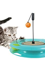 猫用おもちゃ ペット用おもちゃ インタラクティブ 耐用的 スクラッチマット ペーパー プラスチック