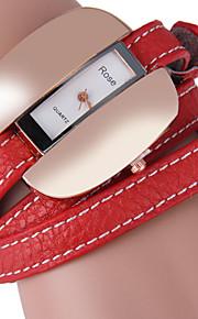 JUBAOLI Relógio de Moda Único Criativo relógio Quartzo Couro Banda Pendente Casual Preta Branco Vermelho Marrom Branco Preto Café Vermelho