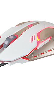 Alta calidad 6 botón 2400dpi usb ajustable ratón atado con alambre llevó el ratón del juego de la luz de la noche para el ordenador