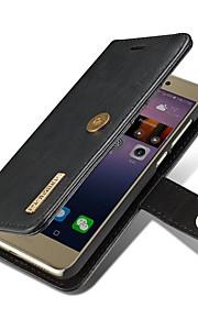 화 웨이 p8 라이트 용 (2017) 케이스 커버 카드 홀더 지갑 스탠드 플립 자기 전신 단색 하드 정품 가죽