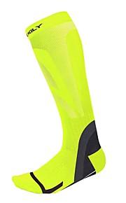 Vélo/Cyclisme Chaussettes de compression Respirable Garder au chaud Vestimentaire Compression Antidérapage Doux Nylon Elasthanne LYCRA®