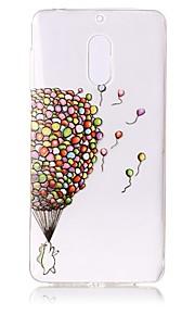 Para Carcasa Funda Transparente En Relieve Diseños Cubierta Trasera Funda Globo Suave TPU para Nokia Nokia 6