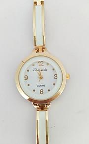 Damskie Zegarek na bransoletce Kwarcowy Metal Pasmo Błyszczące Różowe złoto