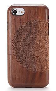 Für Hüllen Cover Geprägt Muster Rückseitenabdeckung Hülle Holzmaserung Mandala Hart Holz für AppleiPhone 7 plus iPhone 7 iPhone 6s Plus