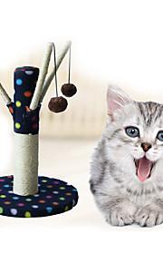 Brinquedo Para Gato Brinquedos para Animais Interativo Durável Tapete de Arranhar Madeira Felpudo Preto Cinzento Café