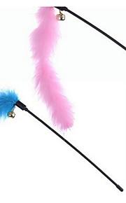 고양이 장난감 반려동물 장난감 인터렉티브 티저 견고함 플라스틱 패브릭 블루 핑크