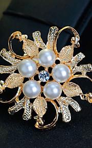 Dame Piger´ Brocher Blomster Perle Krystal Legering Smykker For Bryllup Fest Speciel Lejlighed Daglig