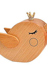 Caixa de música Pássaro Decoração Para Festas Madeira Unisexo