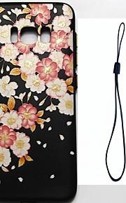 Para samsung galáxia s8 mais s8 caso tampa flor padrão injeção de combustível relevo chapeamento botão mais grosso tpu material telefone
