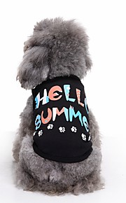고양이 개 티셔츠 조끼 강아지 의류 여름 문자와 숫자 귀여운 패션 캐쥬얼/데일리