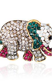 Dame Piger´ Brocher Dyredesign Mode Euro-Amerikansk Rhinsten Legering Dyreformet Smykker For Bryllup Fest Speciel Lejlighed Daglig
