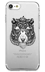 Voor iphone 7 plus 7 case cover milieuvriendelijke transparante patroon achterkant hoesje dieren punk soft tpu voor iphone 6s plus 6s 6 5s