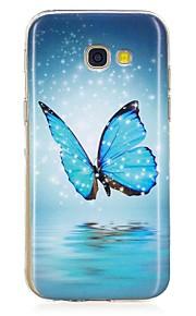 Hoesje voor Samsung Galaxy A3 (2017) a5 (2017) gloeien in het donkere patroon Back Cover Case Butterfly Soft TPU voor A5 (2016) A3 (2016)