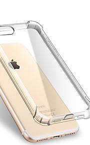 För apple iphone 7 7 plus 6s 6 plus se 5s 5 szkinston stötdämpande transparent mjukt tpu bakstycke case handsel svart metall kapacitiv