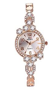 בגדי ריקוד נשים שעוני אופנה שעון צמיד ייחודי Creative צפה שעון דיגיטלי Chinese קווארץ עמיד במים סגסוגת להקהוינטאג' מדבקות עם נצנצים מזל