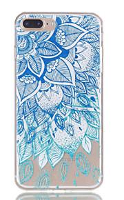 Voor iphone 7plus 7 tpu materiaal bladeren patroon reliëf telefoon hoesje 6s plus 6plus 6s 6 se 5s 5